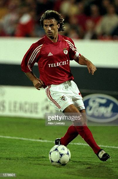 Joao Pinto of Benfica in action during the Champions League match against PSV Eindhoven at the Estadio da Luz in Lisbon Portugal Benfica won the game...
