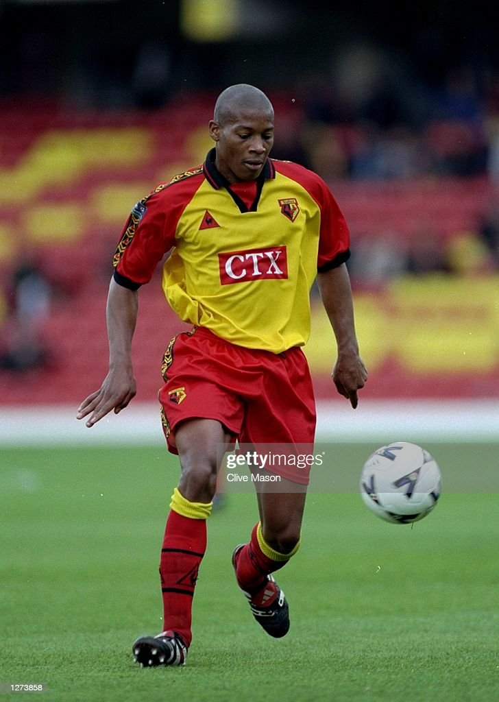 Micah Hyde of Watford Town in action during the Nationwide Division One game against Birmingham City at Vicarage Road in Watford, England. \ Mandatory Credit: Clive Mason /Allsport