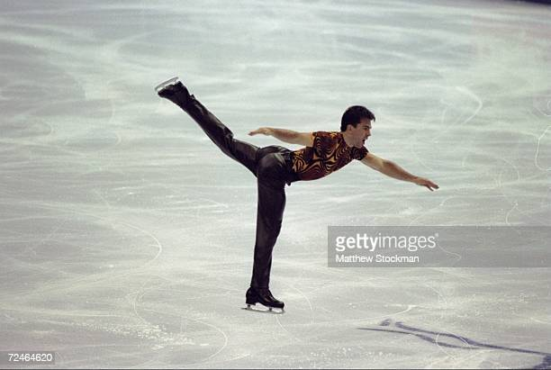 Michael Weiss of the United States in action during the Thrifty Car Rental Skate America International ''98 at the Joe Louis Arena in Detroit...