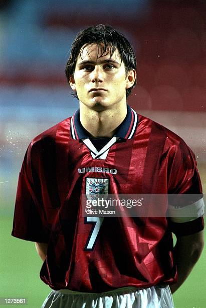 Portrait of Frank Lampard Jnr of England before the European Championship U21 qualifier against Bulgaria at Upton Park in London Mandatory Credit...