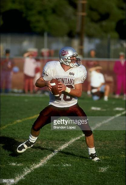 Quarterback Sean Davis of the Montana Grizzlies in action during the game against the CSUN Matadors at the North Campus Stadium in Northridge...