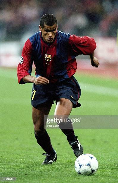 Rivaldo of Barcelona in action against Bayern Munich during the UEFA Champions League match at the Olympiastadion in Munich Germany Bayern won 10...