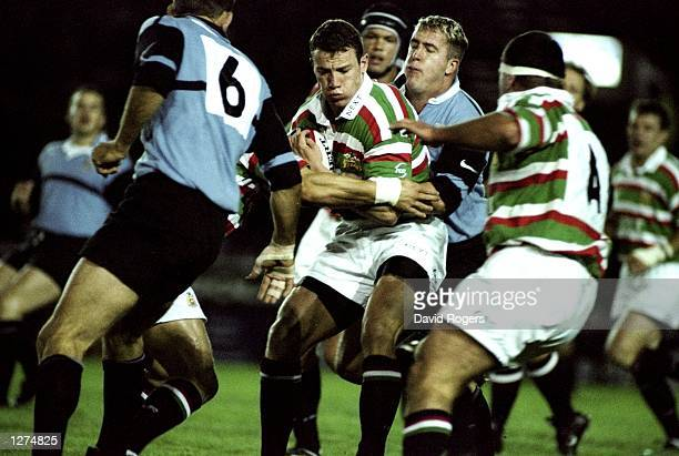 Tim Stimpson of Leicester in action during a Rugby Union Friendly against Cardiff at Welford Road in Leicester England Cardiff won the game 3520...