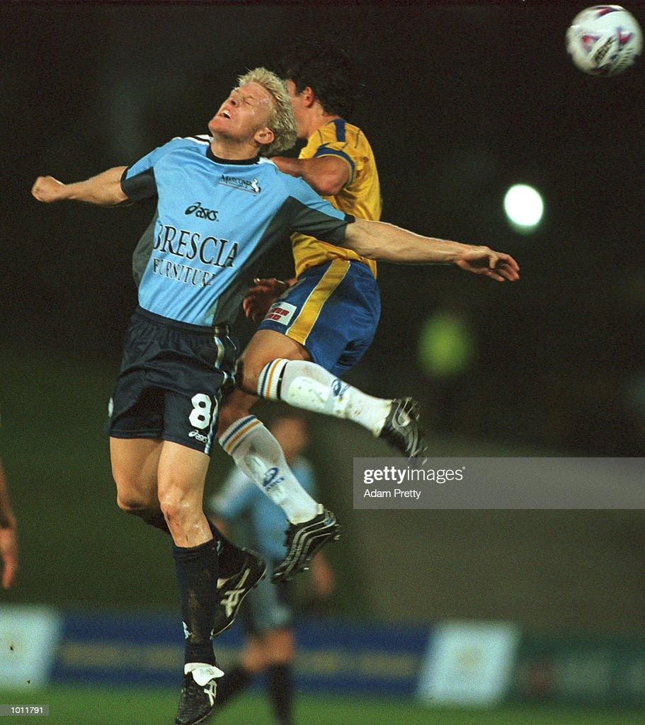 #8 Darren McDonald of Marconi flies high during the match between Parramatta Power v Marconi at Parramatta stadium,Sydney Australia. Mandatory Credit: Adam Pretty/ALLSPORT