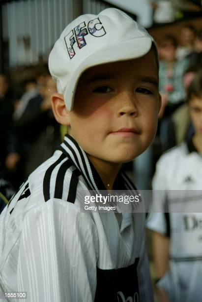 A Fulham fan during the Nationwide Division One match against Swindon Town at Craven Cottage in London Fulham won 10 Pic Gary Palmer Mandatory Credit...