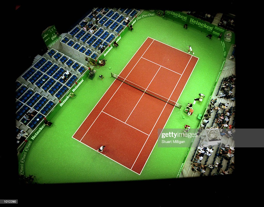 A general view of court 1 at the Singapore Indoor Stadium during a first round match between Mark Phiippoussis, of Australia and Bob Bryan, of the U.S.A in the Heineken Singapore Tennis Open, played at the Singapore Indoor Stadium, Singapore. Philippousis won: 6-4, 6-4. Mandatory Credit: Stuart Milligan/ALLSPORT