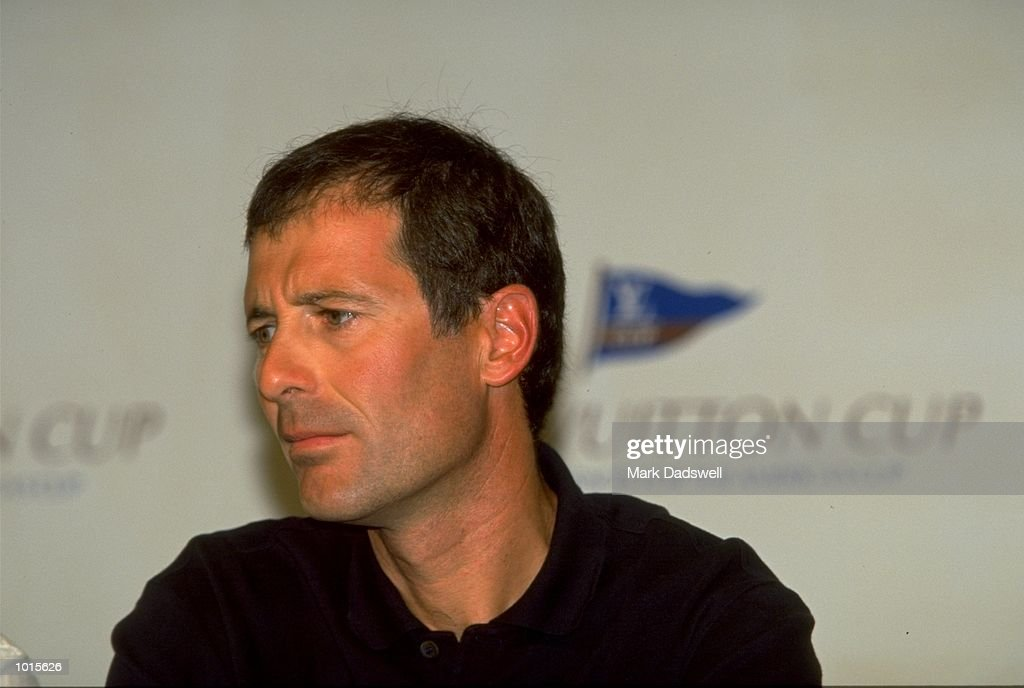 A portrait of the Prada Challenge Skipper Francesco De Angelis at a press conference during Round 1 of the Louis Vuitton Cup held in Auckland, New Zealand. \ Mandatory Credit: Mark Dadswell /Allsport