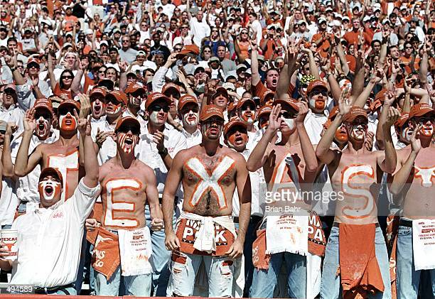 A record crowd of 84082 shows for the game between the Nebraska Cornhuskers and the Texas Longhorns at the Texas Memorial Stadium in Austin Texas The...