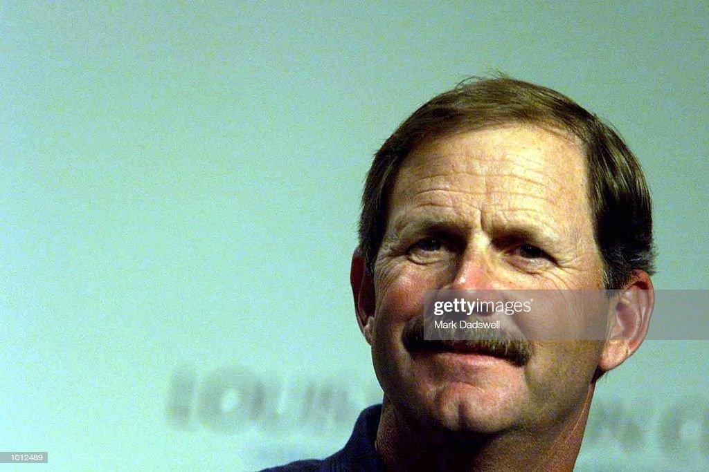 Abracadabra 2000 skipper John Kolius, competitors in The Louis Vuitton Cup challenge races, which begin tomorrow, on Hauraki Gulf, Auckland, New Zealand. x Mandatory Credit: Mark Dadswell/ALLSPORT