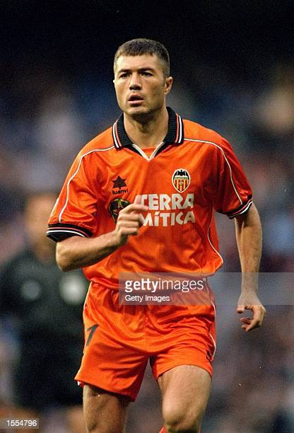Adrian Ilie of Valencia during the Spanish Primera Liga match against Real Madrid at the Estadio Santiago Bernabeu in Madrid Spain Valencia won 32...