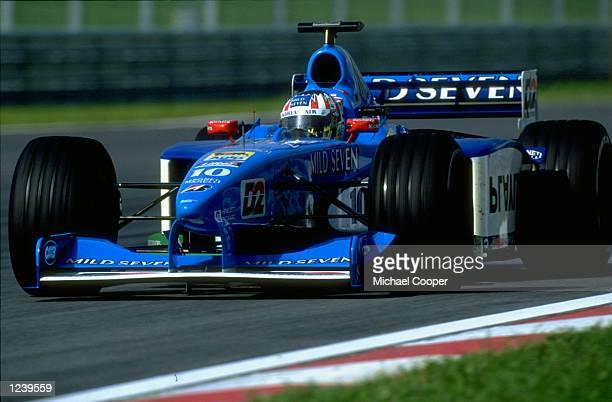 Alexander Wurz of Austria races the Benetton Playlife during the Malaysian Formula One Grand Prix held at the Sepang Circuit in Kuala Lumper Malaysia...