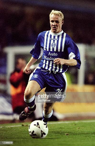 Andrew Johnson of Birmingham City in action during the Worthington Cup Round 3 match against Newcastle United from St Andrews Birmingham England The...