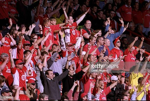 Bristol City fans during the Nationwide Division Two match against Bristol Rovers at Ashton Gate in Bristol England The game ended goalless Mandatory...