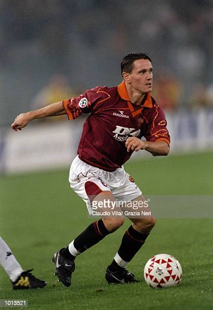 Dmitri Alenitchev of Roma in action during the Seria A match at the Stadio Olimpico in Rome Italy Juventus won 10 Mandatory Credit Claudio Villa...