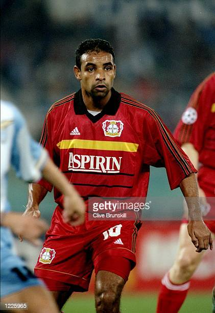 Emerson of Bayer Leverkusen in action during the UEFA Champions League Group A match between Lazio and Bayer Leverkusen played at the Stadio...