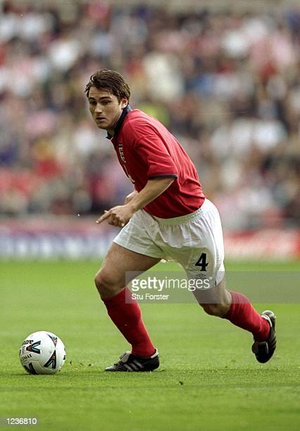 Frank Lampard makes his England debut against Belgium in the International Friendly at the Stadium of Light in Sunderland England England won 21...