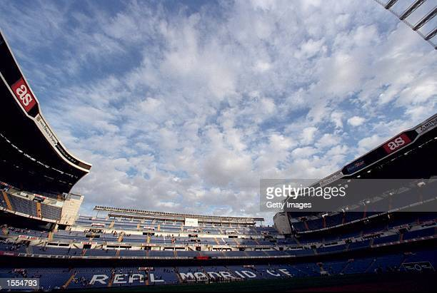 General view of the Estadio Santiago Bernabeu before the Spanish Primera Liga match between Real Madrid and Valencia in Madrid, Spain. Valencia won...