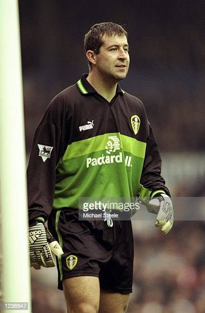 Goalkeeper Nigel Martyn of Leeds during the FA Carling Premiership match against Sheffield Wednesday at Elland Road in Leeds England Leeds won the...