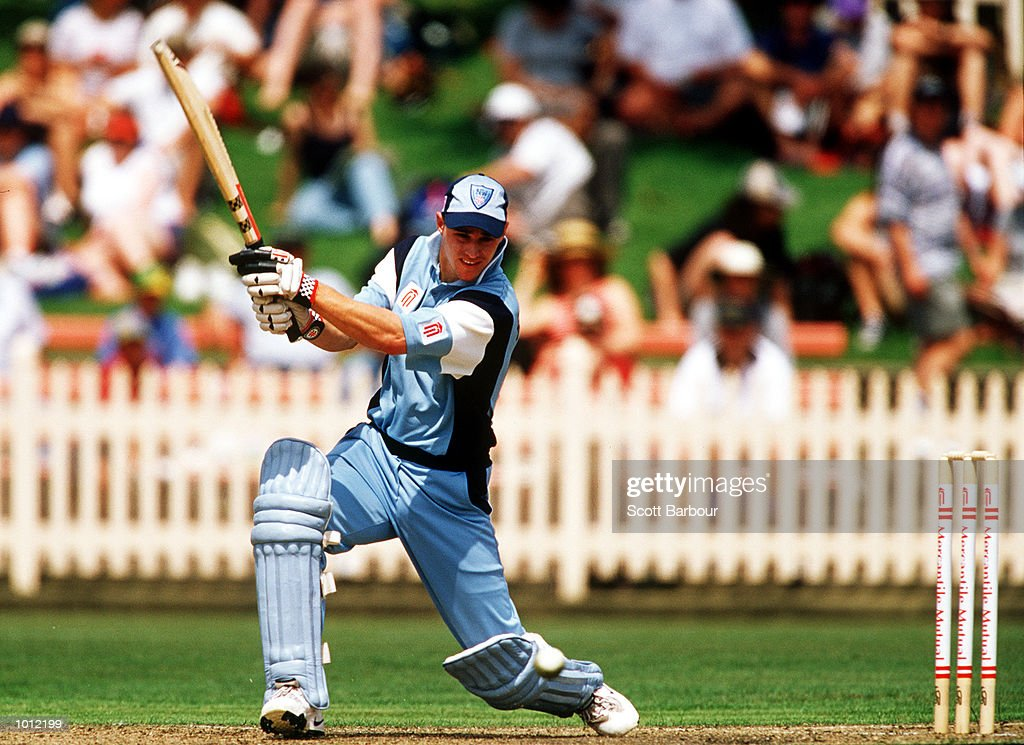Graeme Rummans of the NSW Blues cuts in front of point against the Victorian Bushrangers during the Mercantile Mutual Cup at the North Sydney Oval, Sydney, Australia. Mandatory Credit: Scott Barbour/ALLSPORT