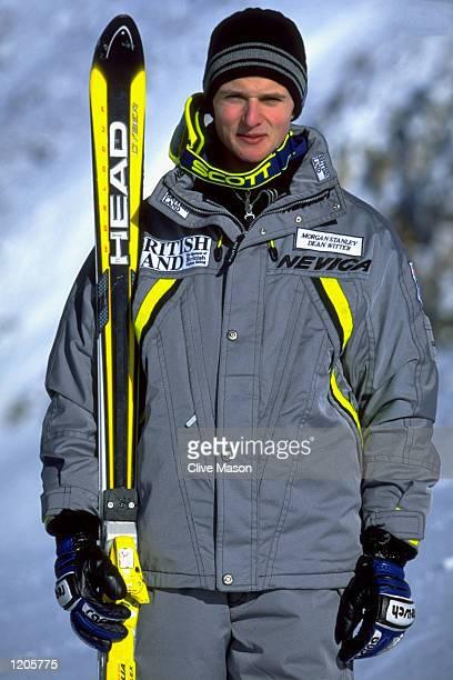John MoulderBrown of the British Ski Team at the Hintertux resort in Austria Mandatory Credit Clive Mason /Allsport