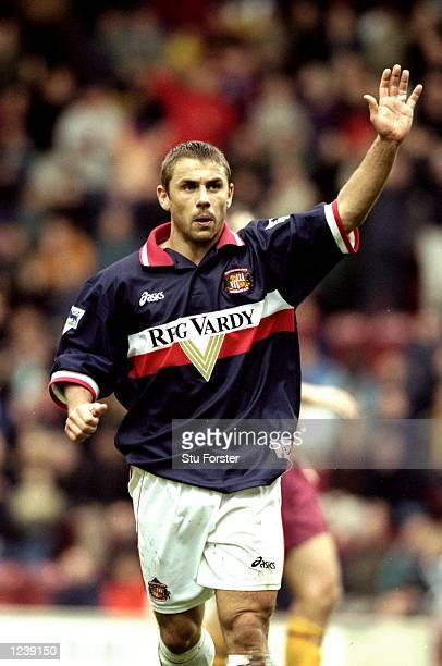 Kevin Phillips of Sunderland in action during the FA Carling Premiership match against Bradford played at Valley Parade in Bradford England...
