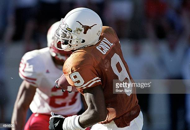 Kwane Cavil of the Texas Longhorns moves with the ball during the game against the Nebraska Cornhuskers at the Texas Memorial Stadium in Austin Texas...