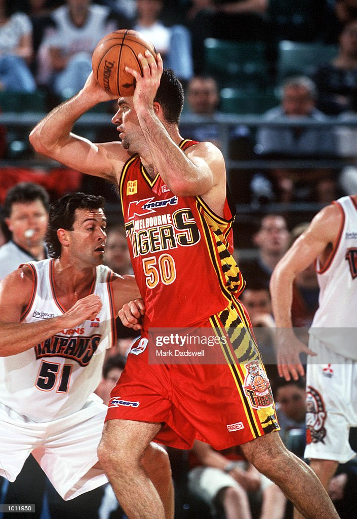 Mark Bradtke of the Melbourne Tigers in action, in the NBL match between the Melbourne Tigers and the Cairns Taipans, played at Melbourne Park, Melbourne, Australia. Mandatory Credit: Mark Dadswell/ALLSPORT