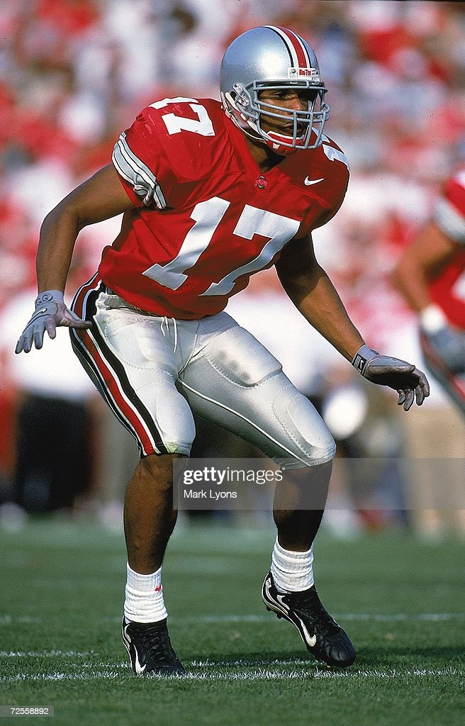 Percy King of the Ohio State Buckeyes moves on the field