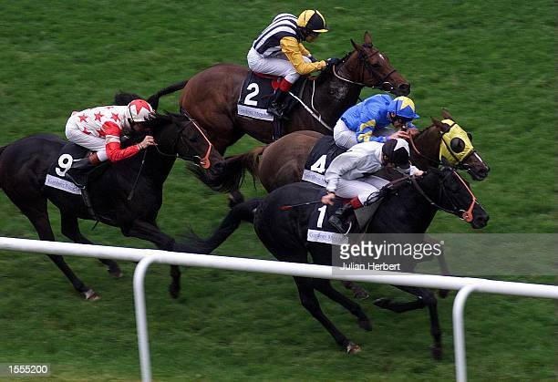 Ray Cochrane brings Superior Premium home to land The Gardner Merchant Rated Stakes run over 6 Furlongs at Newbury Mandatory Credit Julian...