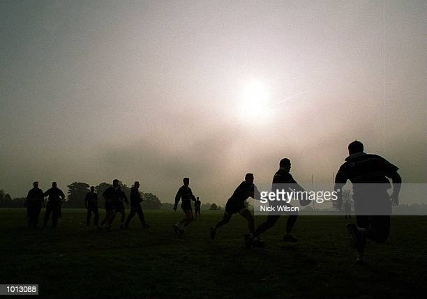 The Australian team are put through their paces during the Australian team's training session in Slough prior to tomorrow's World Cup semifinal match...