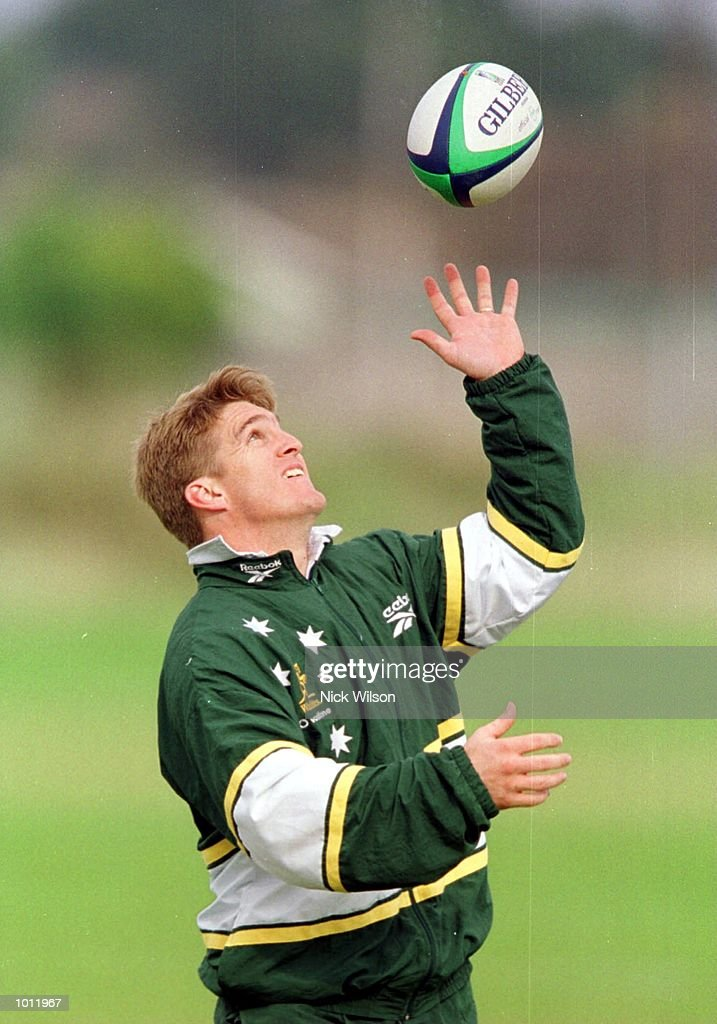 Tim Horan of Australia during a training session at the Portmarnock Sport Centre, Dublin, Ireland. Ahead of Australia's match against Ireland at Landsdown Road on Sunday. Mandatory Credit: Nick Wilson/ALLSPORT