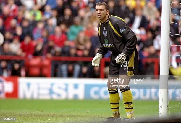 West Bromwich Albion keeper Alan Miller during the Nationwide Division One match against Charlton Athletic at the Valley in London The game ended...
