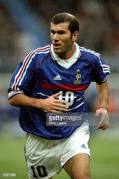 Zinedine Zidane of France in action during the EURO 2000 Group 4 Qualifier between France and Iceland played at the Stade de France, Saint-Denis,...