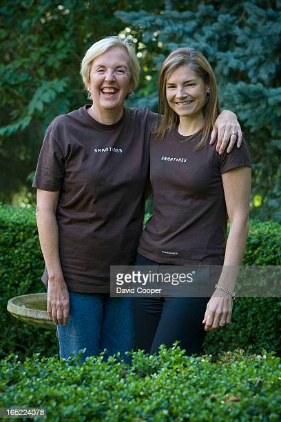 Oct 2 2008 Wearing their SMART ASS Tshirts Heather Gardiner and Christie Black sit on the board of the Colorectal Cancer Screening Initiative...