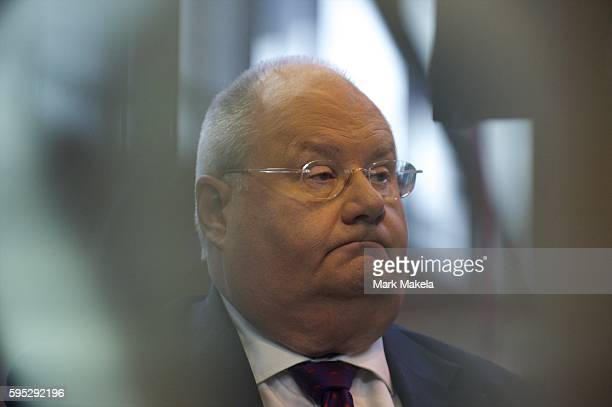 Oct 2 2011 Manchester England UK Secretary of State for Communities and Local Government ERIC PICKLES awaits a Sky News television interview during...