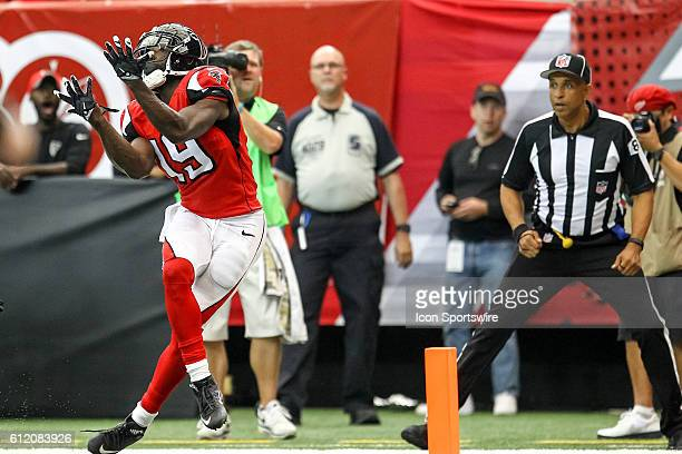 Atlanta Falcons wide receiver Aldrick Robinson in action during the second half of the NFL game between the Carolina Panthers and the Atlanta Falcons...