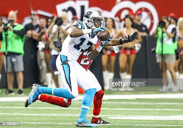 Carolina Panthers wide receiver Devin Funchess in action during the fourth quarter of the NFL game between the Carolina Panthers and the Atlanta...