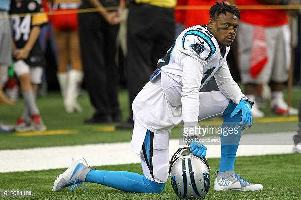 Carolina Panthers wide receiver Ted Ginn during warms up of the NFL game between the Carolina Panthers and the Atlanta Falcons The Falcons beat the...