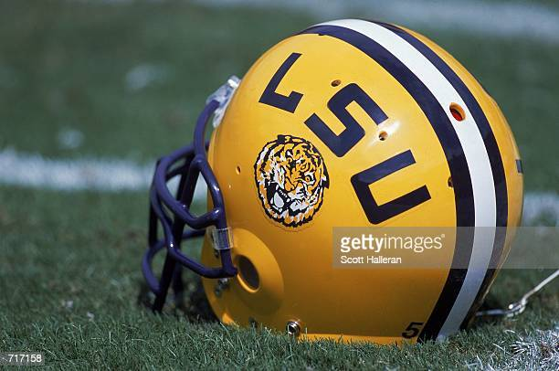 A shot of a LSU Tigers during the game against the Florida Gators at the Ben Hill Griffin Stadium at Florida Field in Gainsville Florida The Gators...