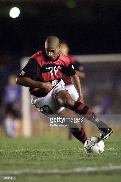 Adriano of Flamengo in action during the Flamengo v Vasco de Gama Joao Havelange Cup match played at the Maracana Stadium Rio de Janeiro Mandatory...