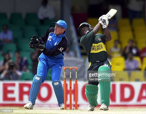 Aminul Islam of Bangladesh hits out during the England v Bangladesh ODI match in the ICC Knockout tournament at the Gymkhana Ground Nairobi Kenya...