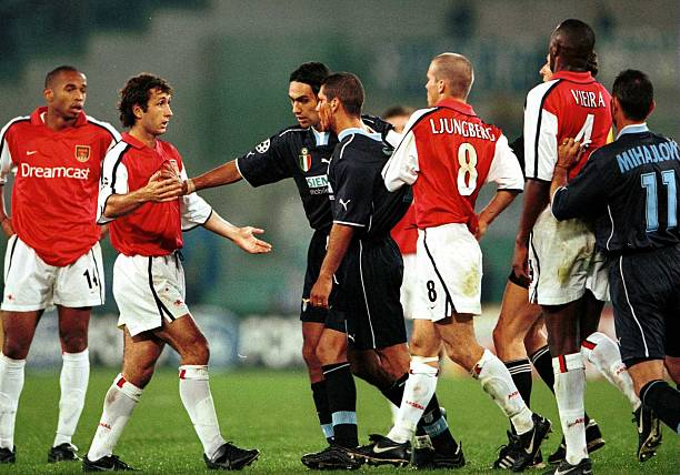 Image result for lazio vs arsenal 2000