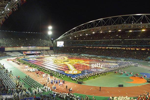 Celebrations during the opening of the Sydney 2000 Paralympic Games at Sydney Olympic Park, Sydney Australia. DIGITAL IMAGE. Mandatory Credit: Nick...