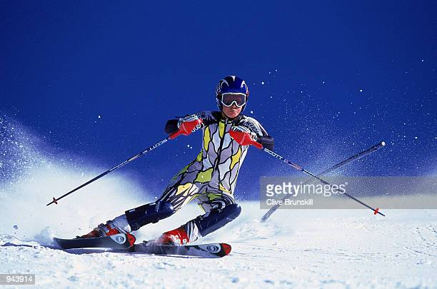Chemmy Alcott of Great Britain in action during the British Ski team training held at the Hintertux Ski resort in Austria Mandatory Credit Clive...