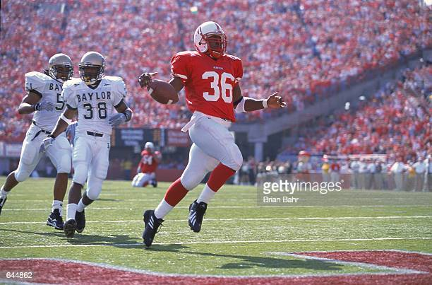 Correll Buckhalter of the Nebraska Cornhuskers makes a touchdown during the game against the Baylor Bears at the Memorial Stadium in Lincoln Nebraska...