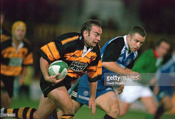 Darren Edwards of Newport bursts forward during the Heineken Cup Pool 4 match against Bath played at Rodney Parade in Newport Wales Newport won the...