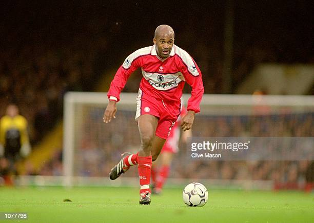 Dean Gordon of Middlesbrough in action during the FA Carling Premier League match against Ipswich played at Portman Road in Ipswich England Ipswich...
