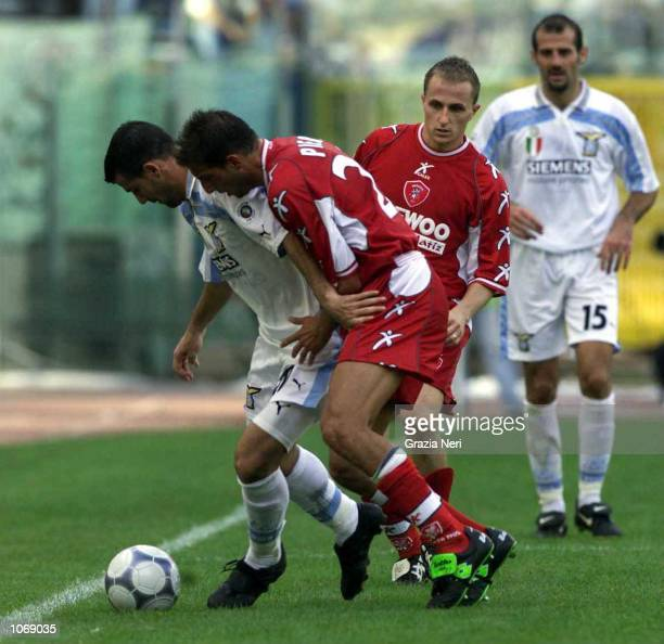 Dejan Stankovic of Lazio in action during the Serie A league match between Lazio and Perugia played at the Olimpico Stadium in Rome Italy Mandatory...