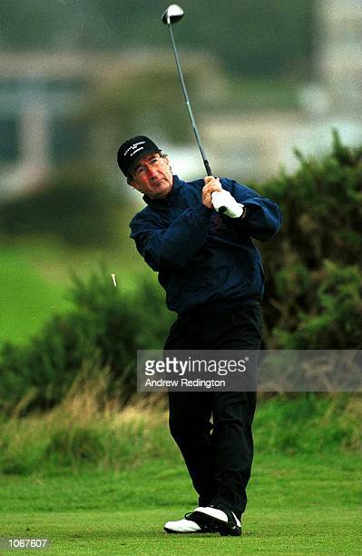 Eddie Jordan tees off on the 5th hole during the ProAm of the Alfred Dunhill Cup played on the Old Course at St Andrews Scotland Mandatory Credit...