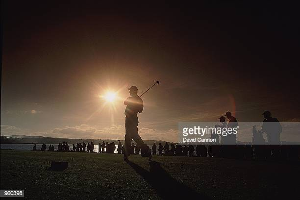 Ernie Els of South Africa in action during the Alfred Dunhill Cup 2000 held at the Old Course St Andrews in Fife Scotland Mandatory Credit David...